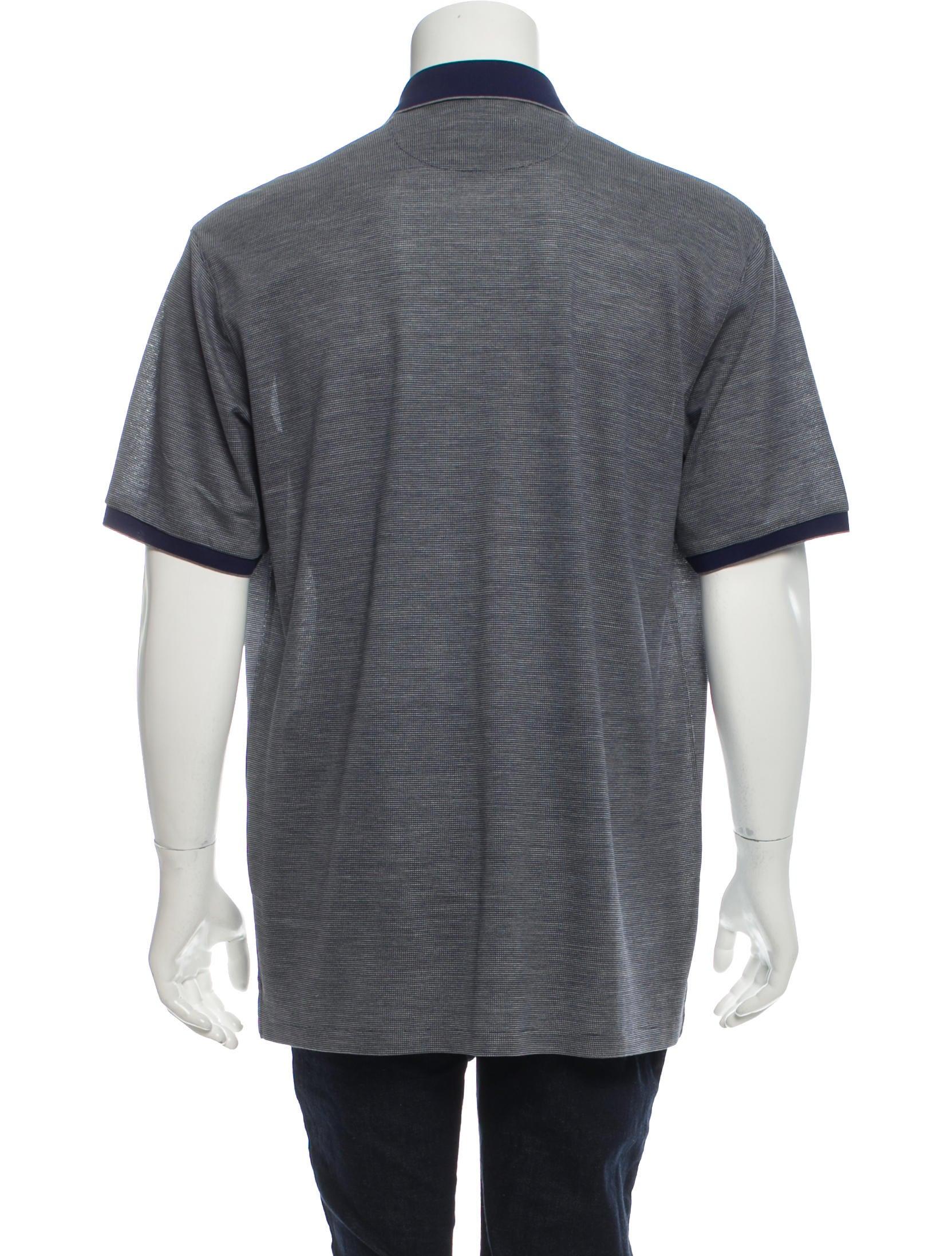 Ermenegildo Zegna Silk Blend Polo Shirt W Tags Clothing