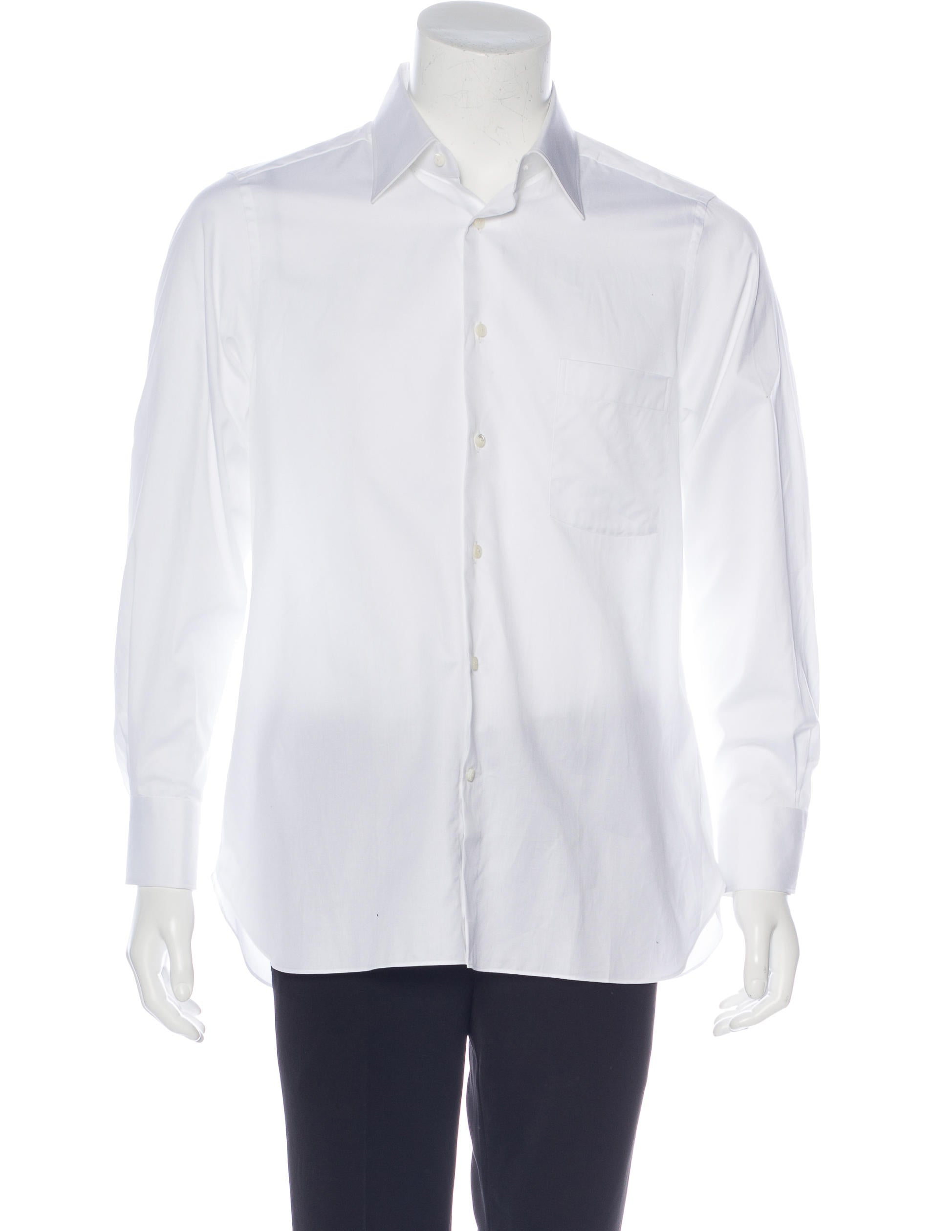 Ermenegildo zegna tailored fit button up shirt w tags for Tailored fit dress shirts