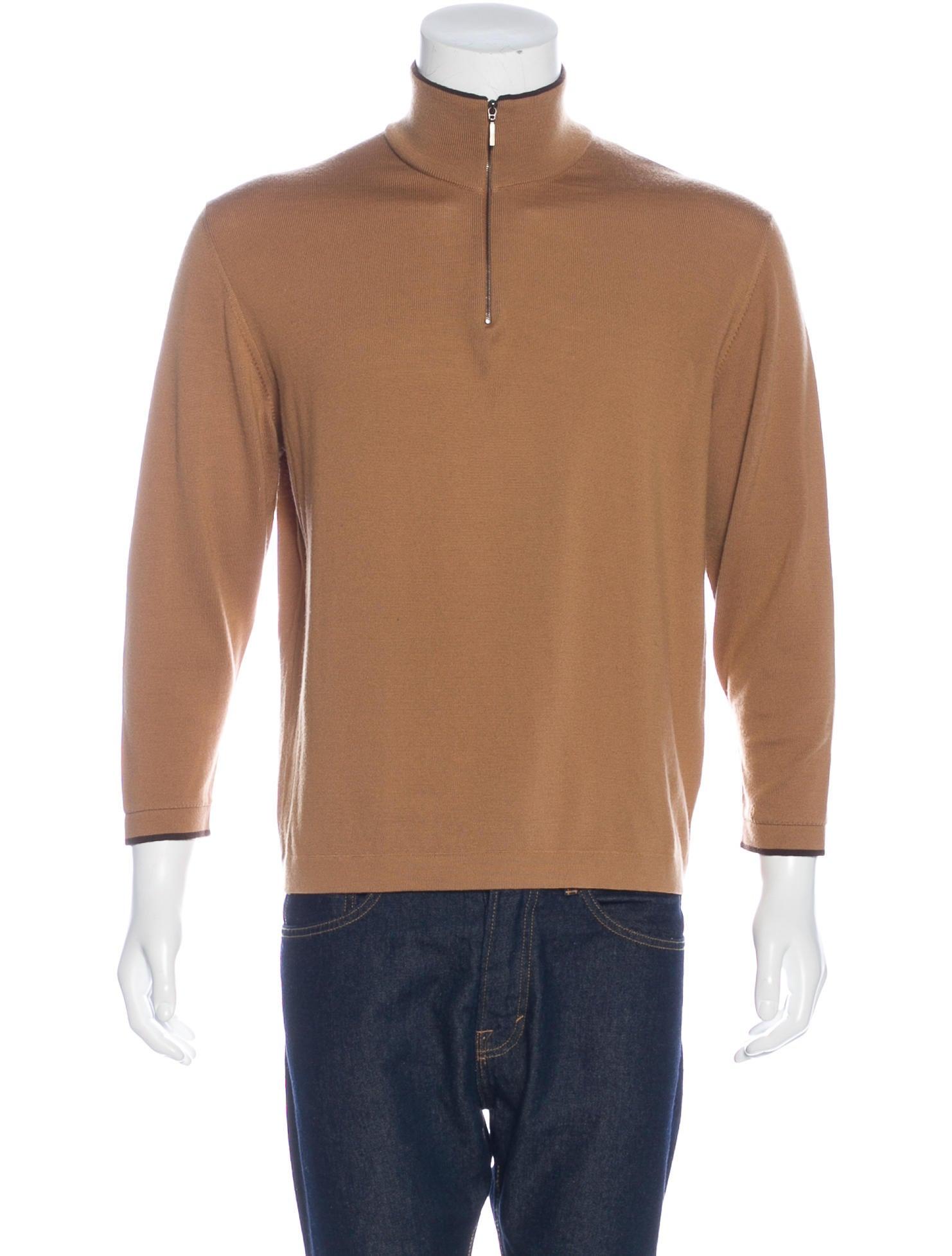 Ermenegildo Zegna Wool Half-Zip Sweater - Clothing - ZGN24810 | The RealReal