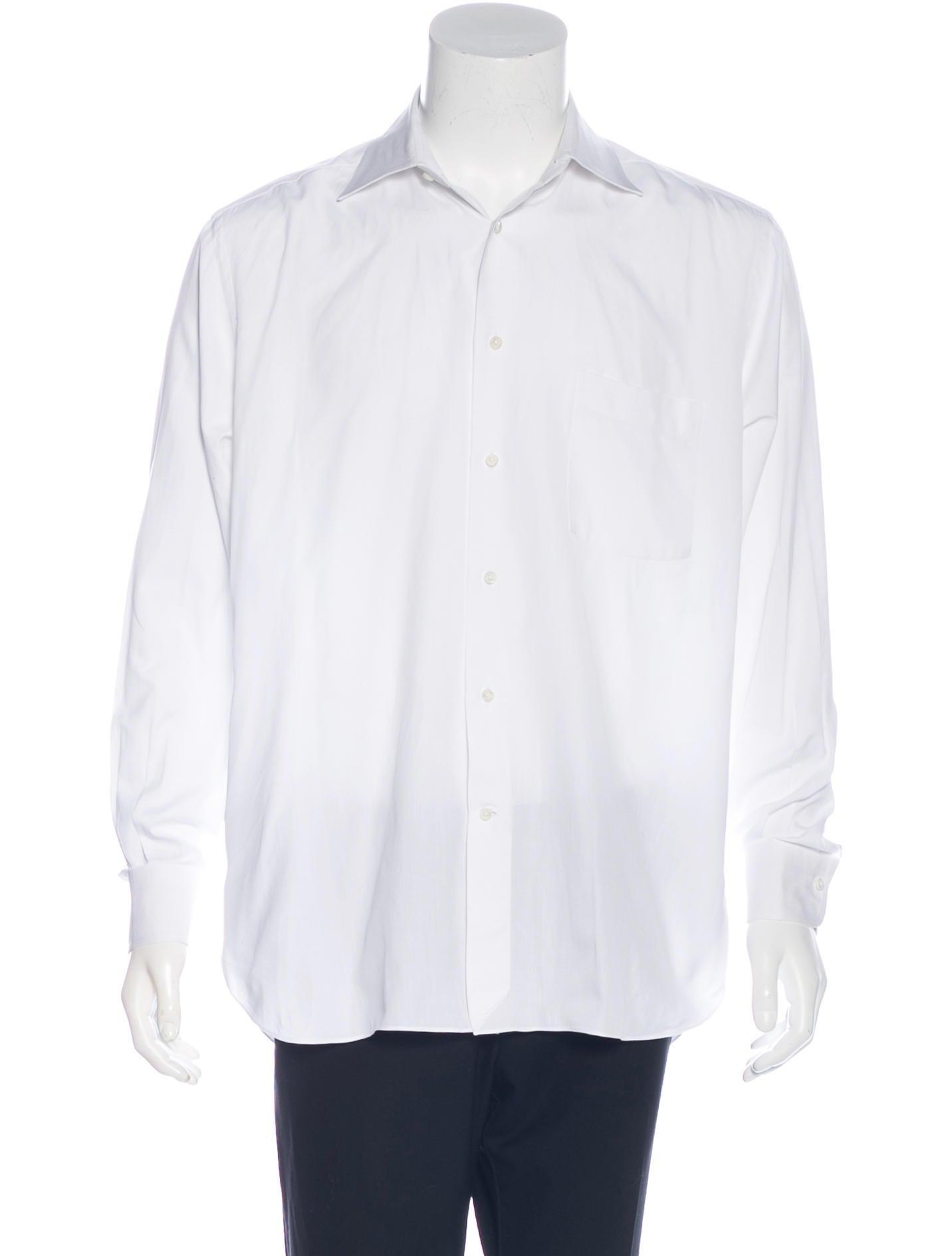 ermenegildo zegna woven dress shirt clothing zgn24853 the realreal. Black Bedroom Furniture Sets. Home Design Ideas