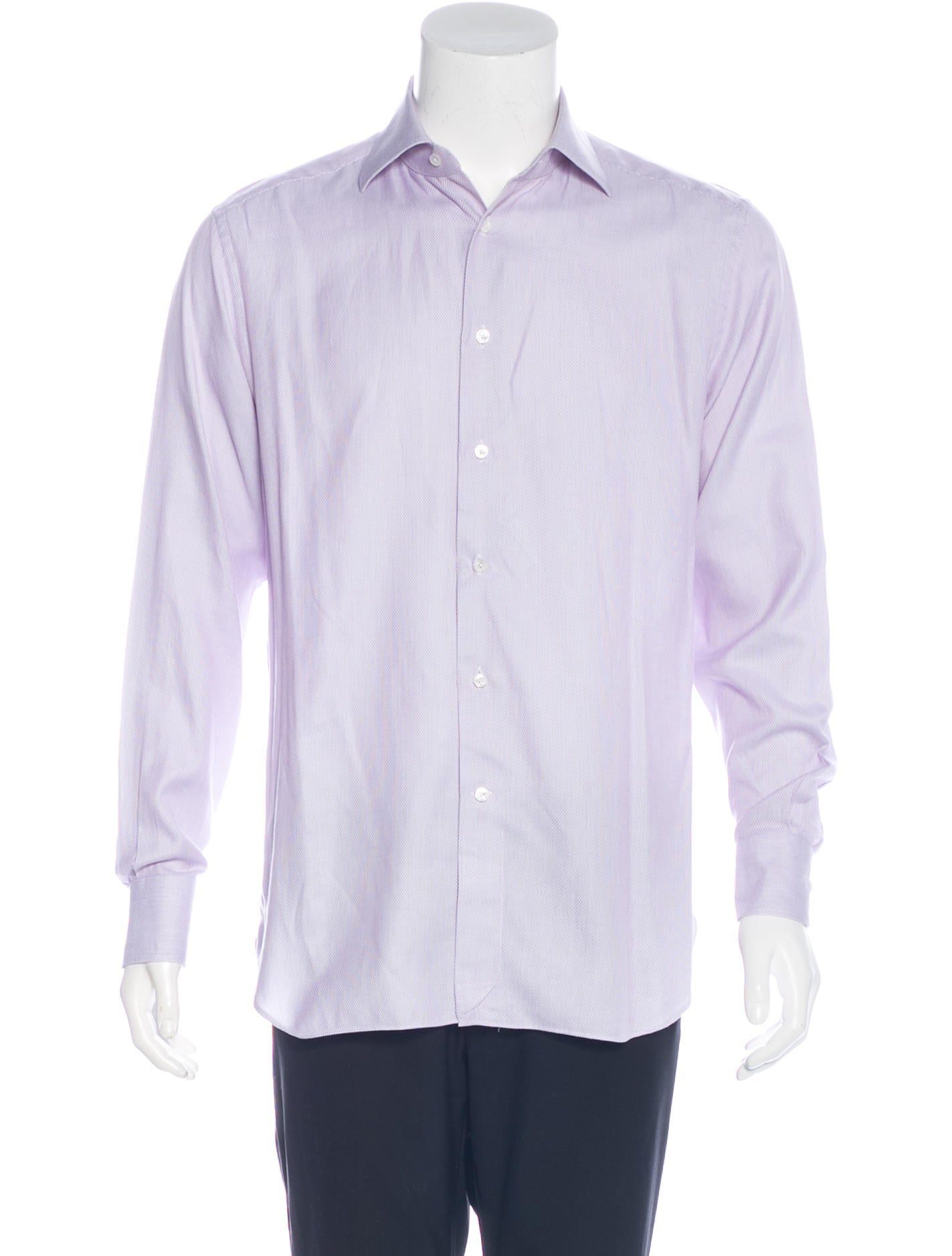 ermenegildo zegna woven dress shirt clothing zgn24855 the realreal. Black Bedroom Furniture Sets. Home Design Ideas