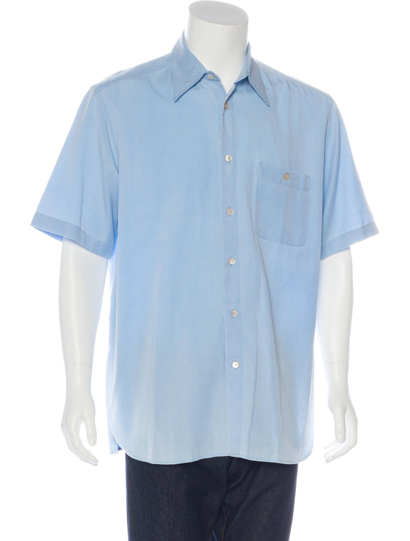 ermenegildo zegna twill woven shirt clothing zgn24889 the realreal. Black Bedroom Furniture Sets. Home Design Ideas