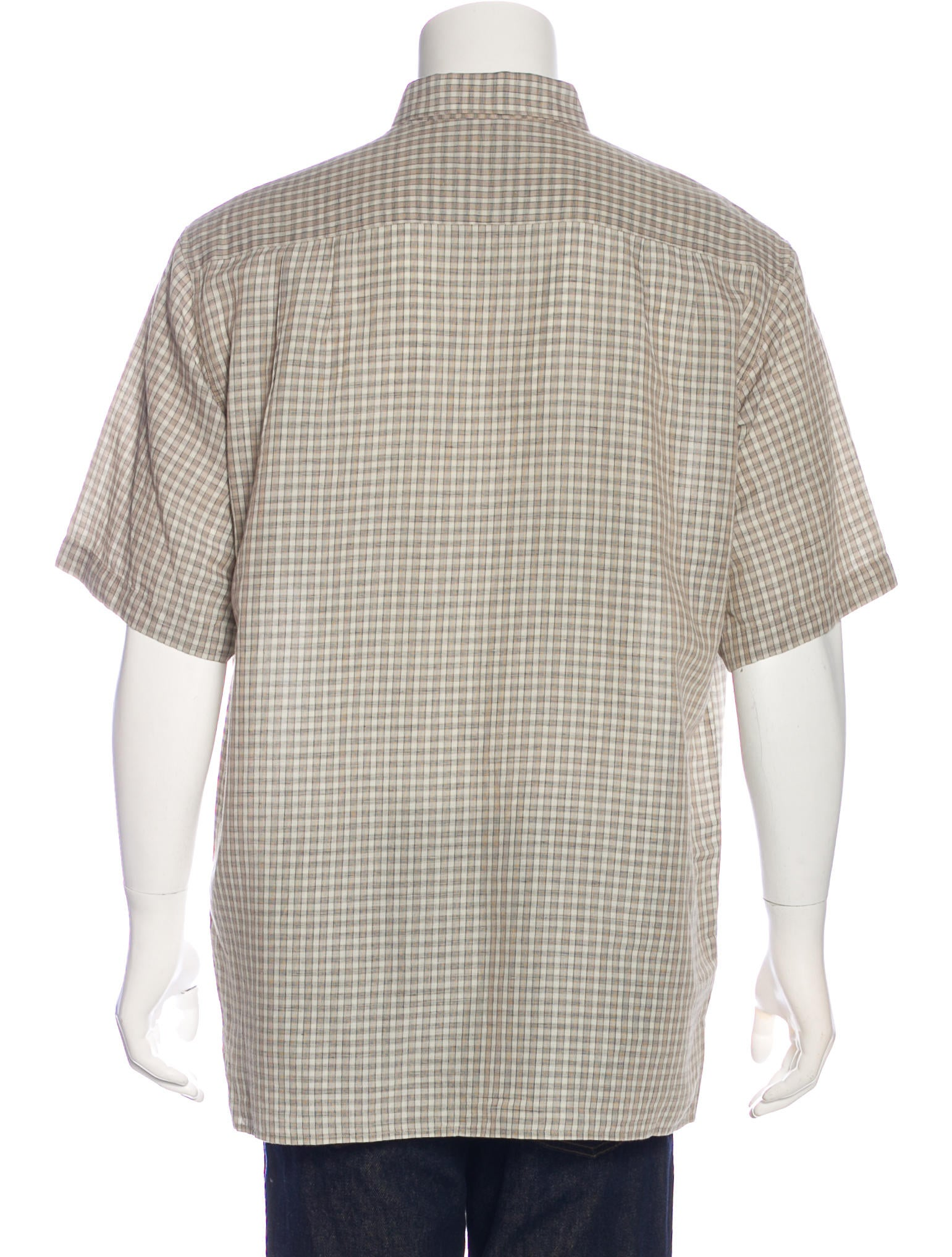 To enjoy the cool feel of linen in a short sleeved shirt, explore our collection of striped and solid colored linen blend shirts. Made from natural fabrics, items in this assortment are popular favorites for comfort and style. The cool feel of natural linen is blended with high quality cotton for .