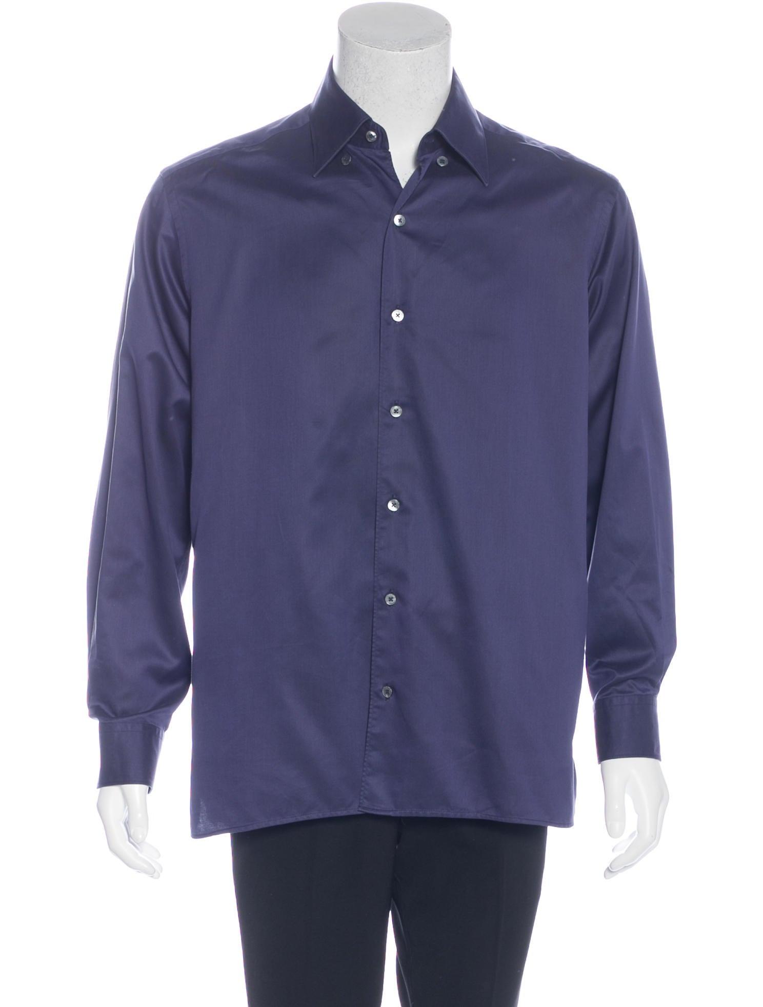ermenegildo zegna woven dress shirt clothing zgn24913 the realreal. Black Bedroom Furniture Sets. Home Design Ideas