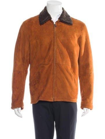 Ermenegildo Zegna Suede Sherpa Jacket None