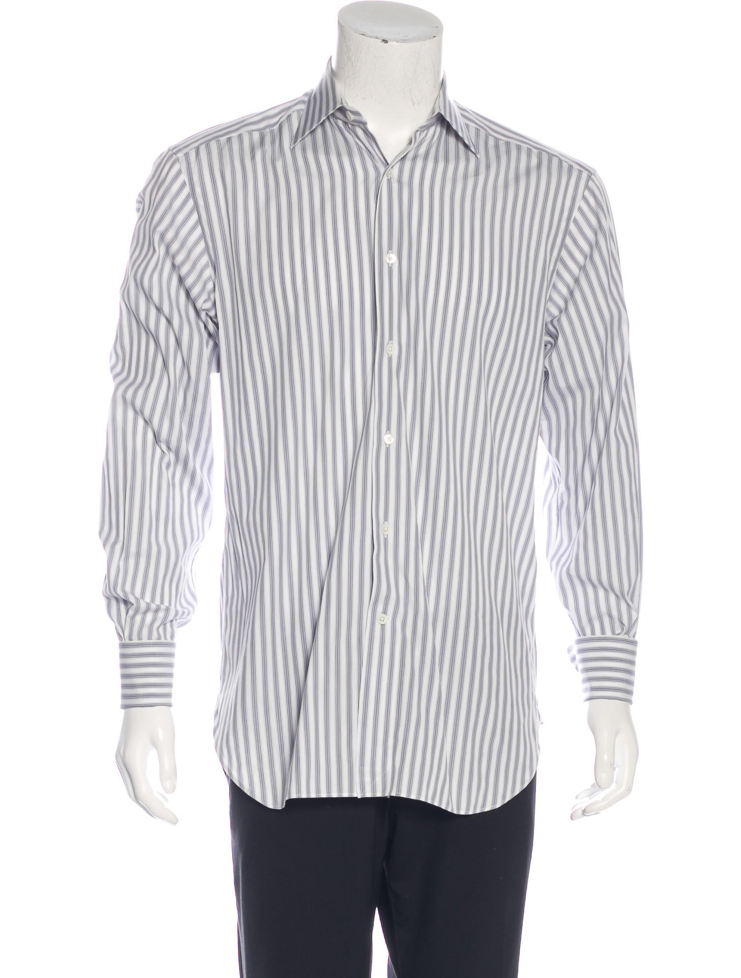 Ermenegildo zegna striped french cuff shirt clothing for What is a french cuff shirt