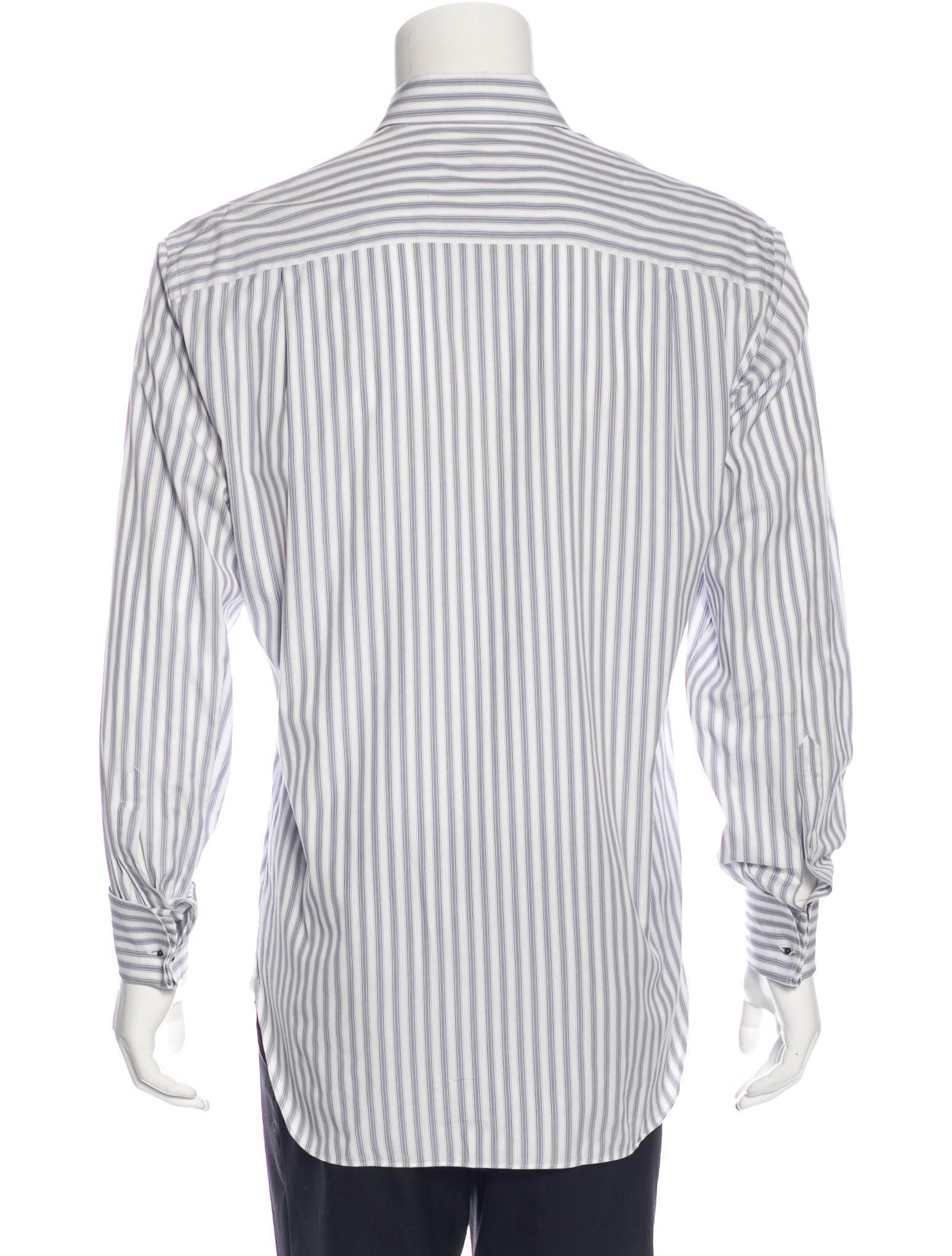 ermenegildo zegna striped french cuff shirt clothing. Black Bedroom Furniture Sets. Home Design Ideas