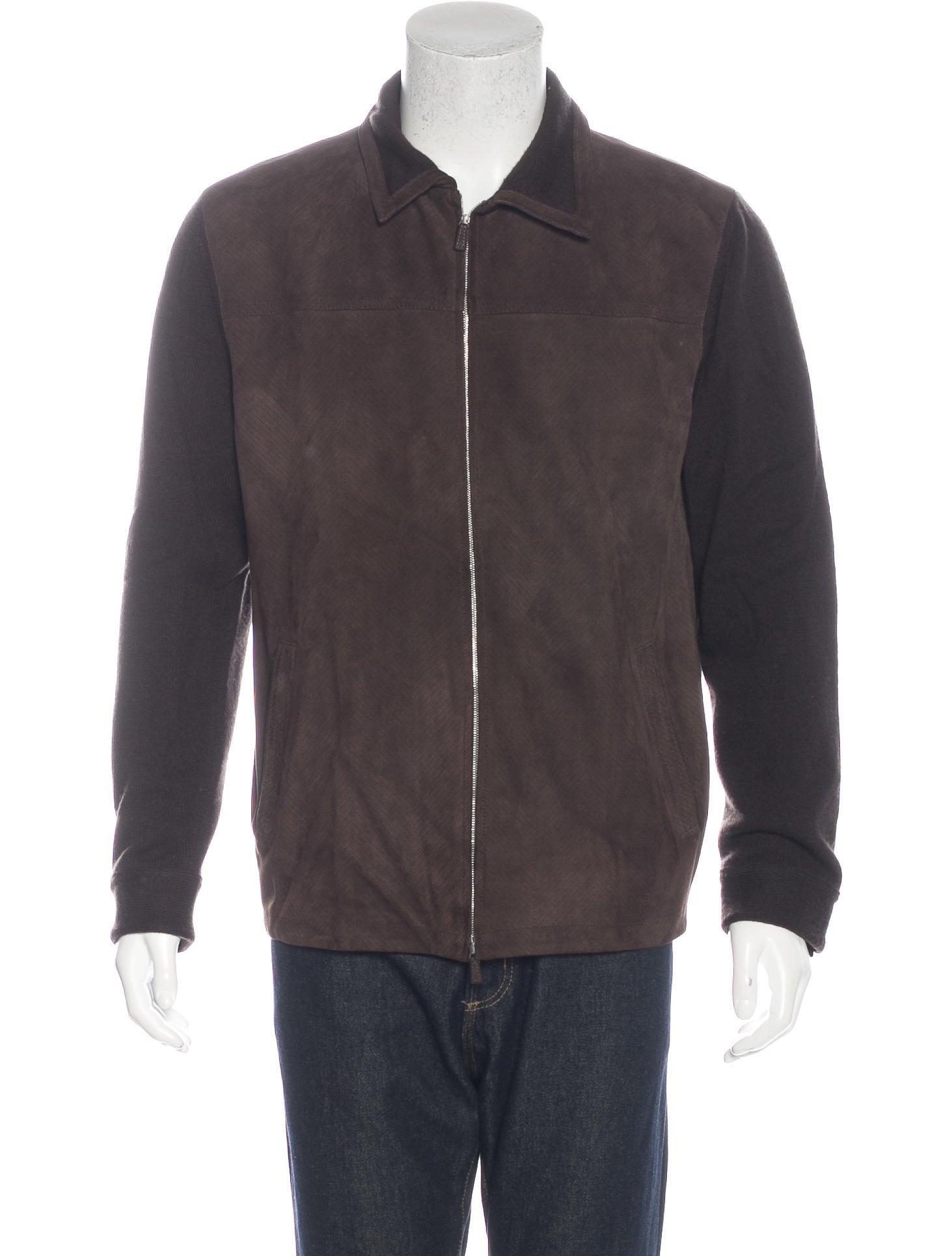Ermenegildo zegna leather jacket