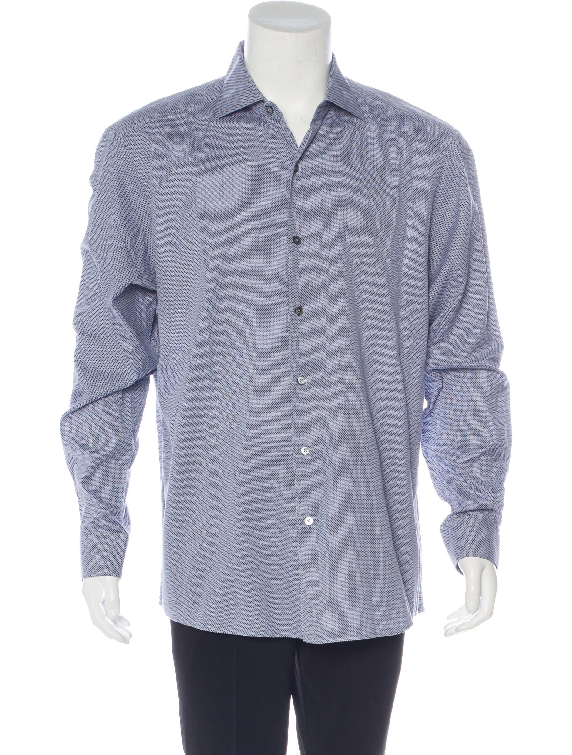 ermenegildo zegna printed woven shirt clothing zgn24997 the realreal. Black Bedroom Furniture Sets. Home Design Ideas
