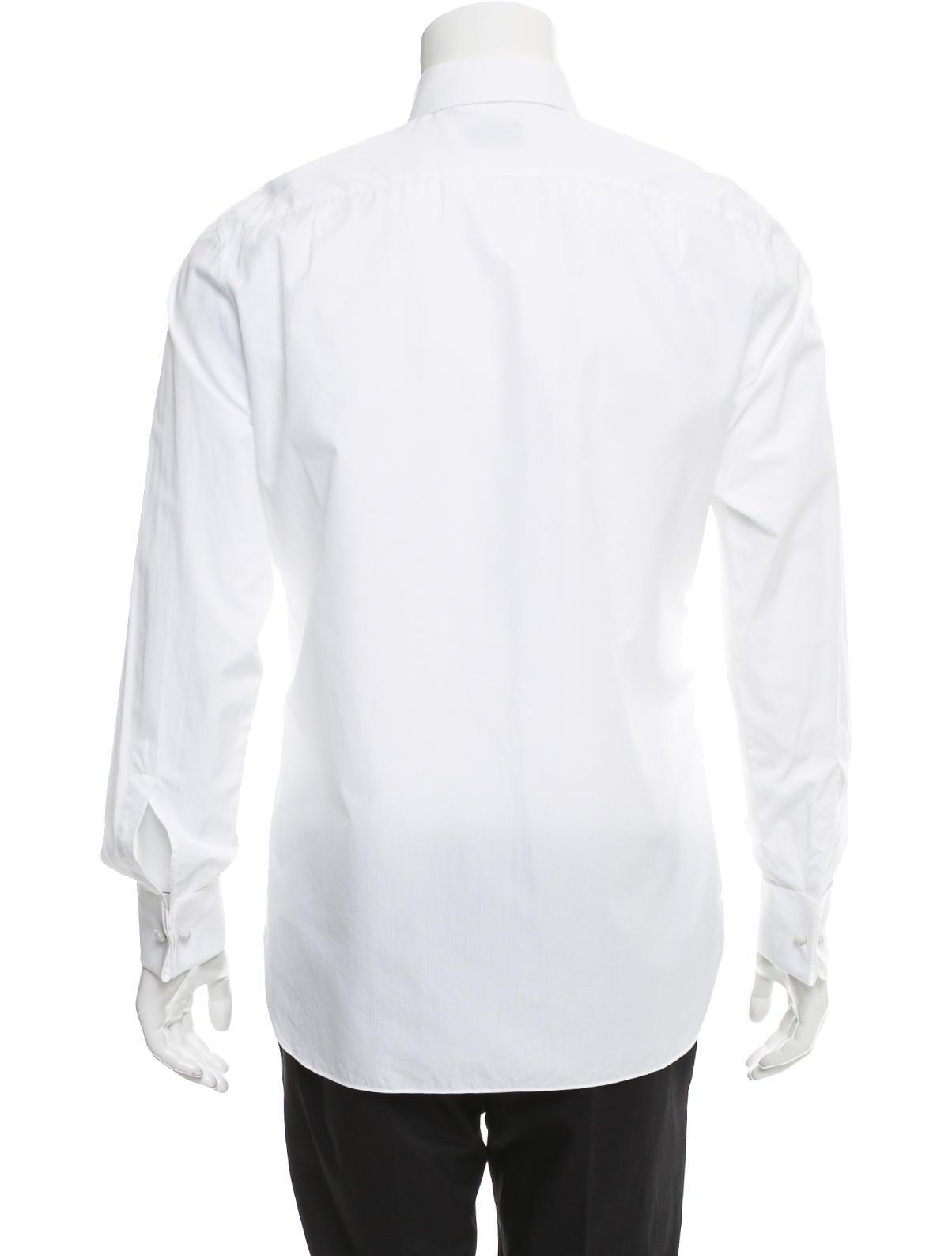 Ermenegildo zegna french cuff tuxedo shirt clothing for Tuxedo shirt french cuff