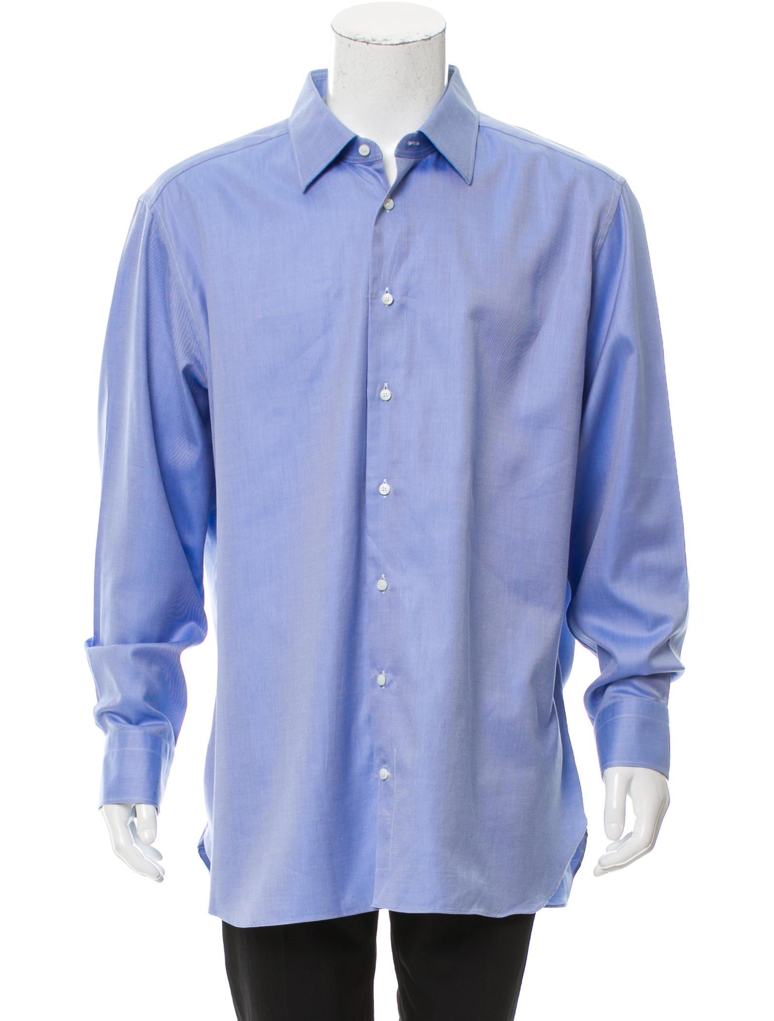 ermenegildo zegna su misura button up shirt clothing zgn25214 the realreal. Black Bedroom Furniture Sets. Home Design Ideas