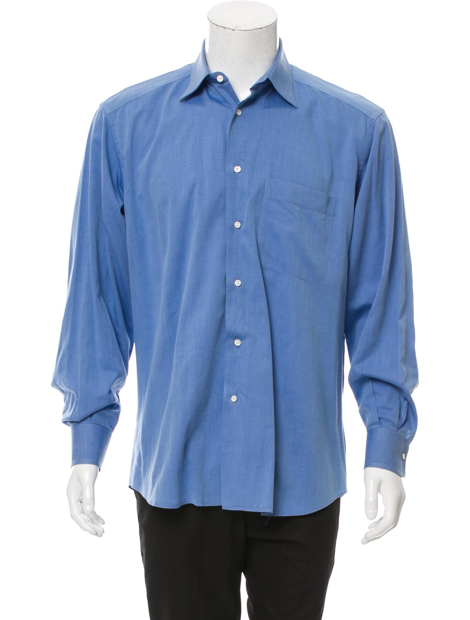 ermenegildo zegna woven button up shirt clothing zgn25234 the realreal. Black Bedroom Furniture Sets. Home Design Ideas