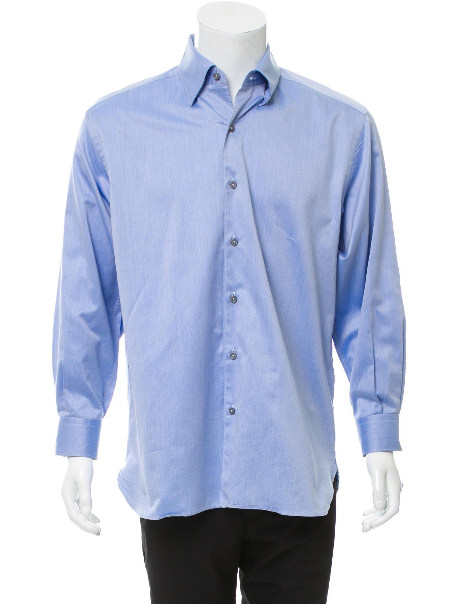 ermenegildo zegna woven button up shirt clothing zgn25288 the realreal. Black Bedroom Furniture Sets. Home Design Ideas