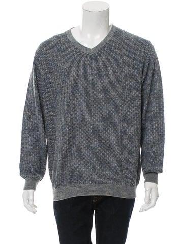 Ermenegildo Zegna Rib Knit V-Neck Sweater None