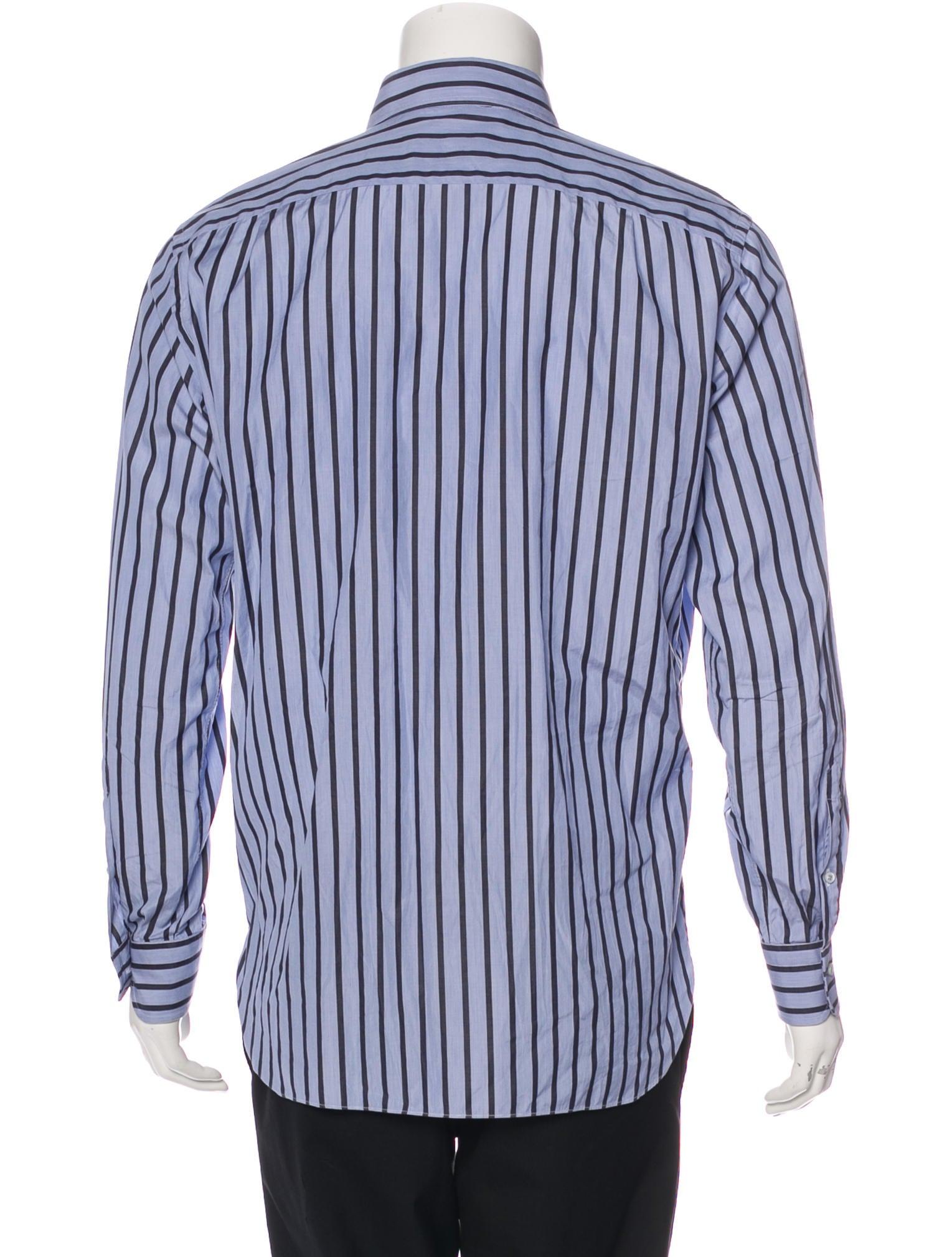 Ermenegildo zegna regular fit striped shirt clothing for Regular fit dress shirt