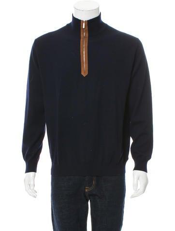 Ermenegildo Zegna Wool Zip-Up Sweater None