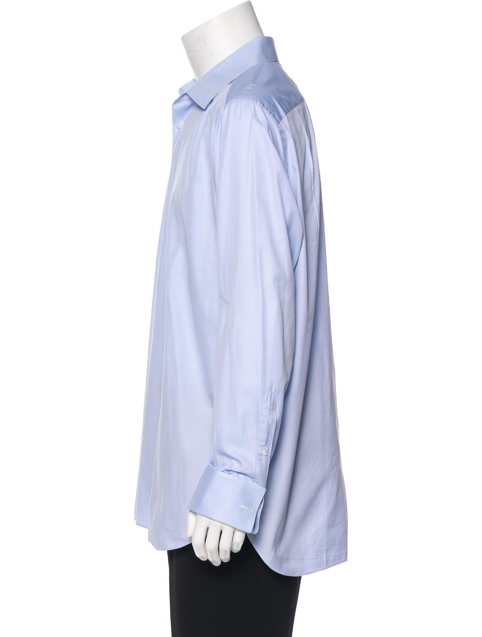 Ermenegildo zegna french cuff woven shirt clothing French cuff shirt women