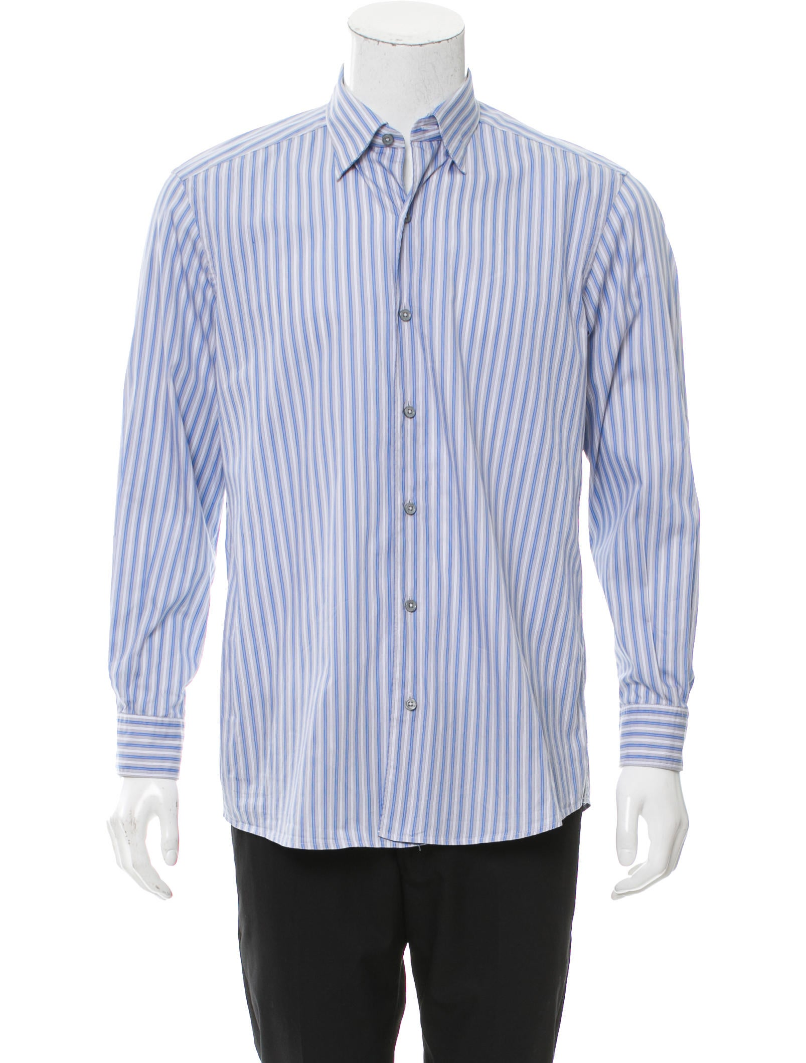 ermenegildo zegna striped button up shirt clothing