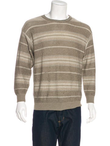 Ermenegildo Zegna Striped Crew Neck Sweater None