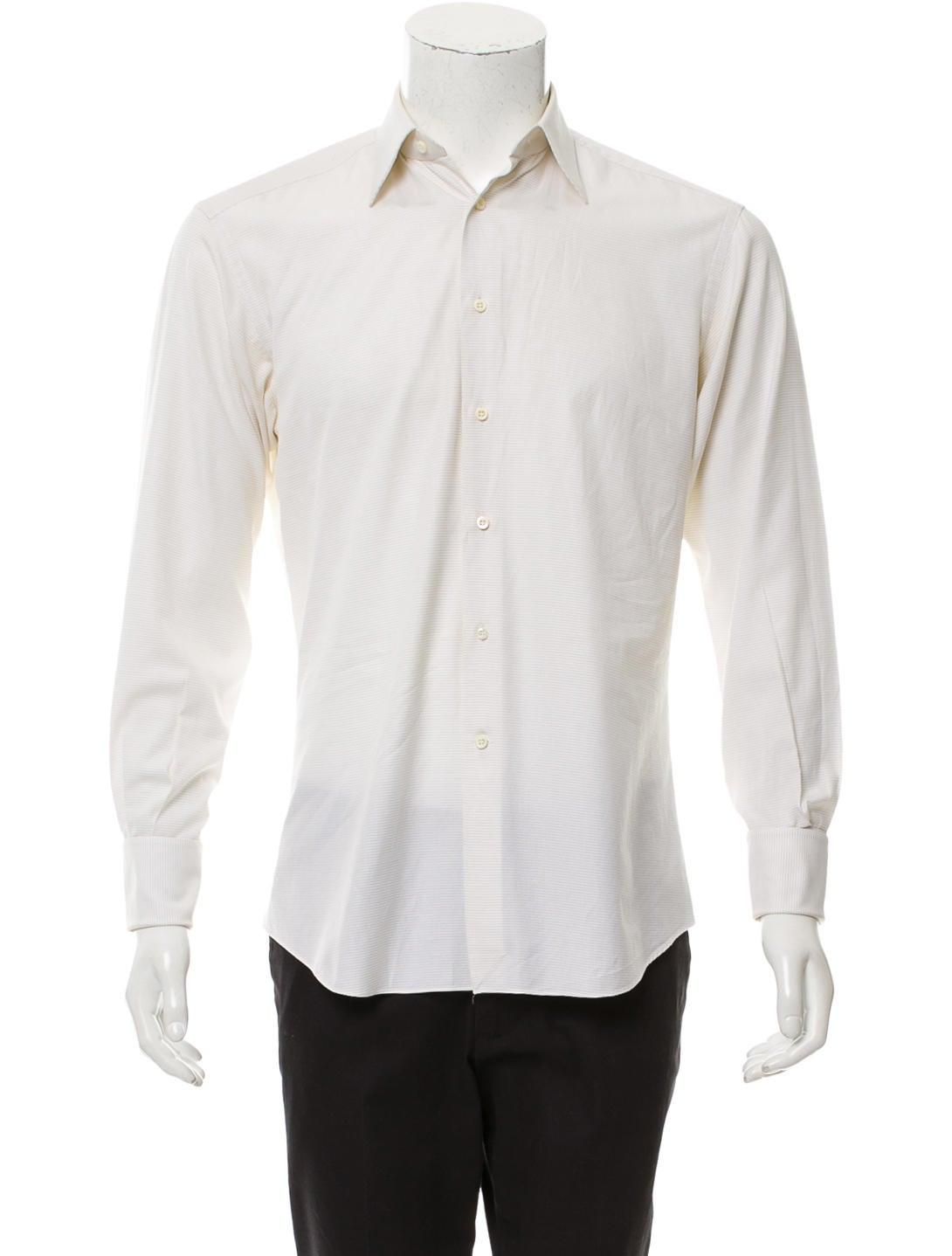 Ermenegildo Zegna Woven Abstract Dress Shirt Clothing Zgn28862