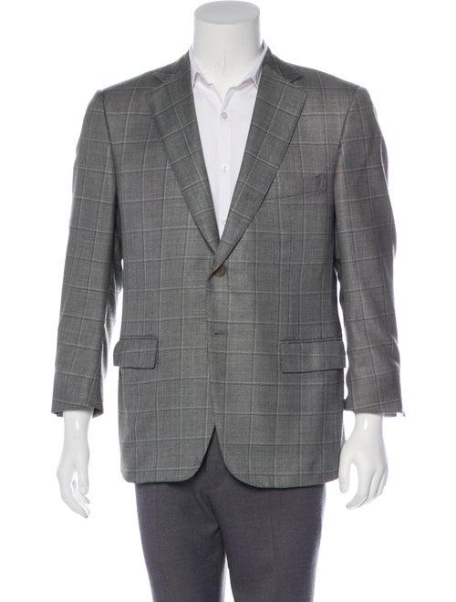 Ermenegildo Zegna Wool & Silk Windowpane Blazer gr