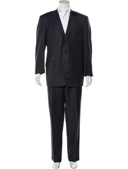 Ermenegildo Zegna Woven Two-Piece Suit blue