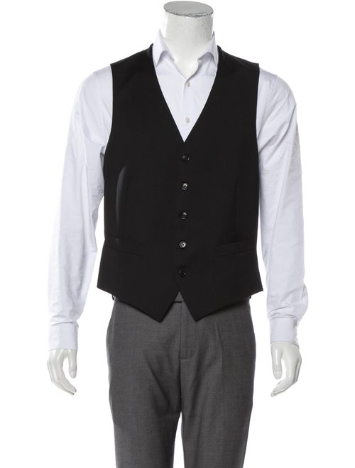 Ermenegildo Zegna Wool Suit Vest w/ Tags black