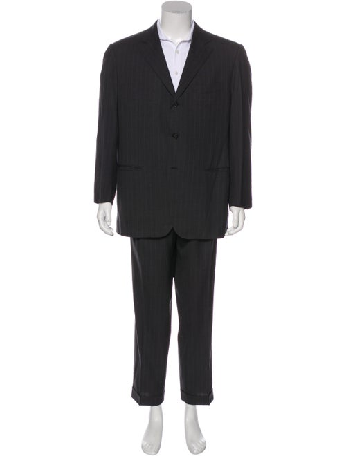 Ermenegildo Zegna Wool Pin-Stripe Two-Piece Suit S