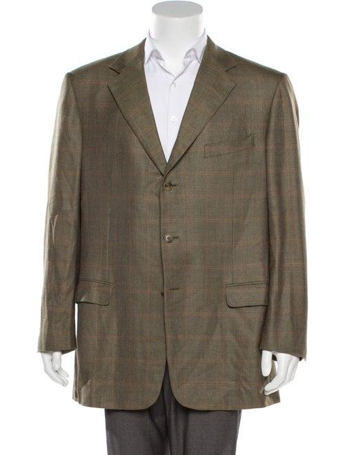 Ermenegildo Zegna Double-Breasted Wool Blazer tan