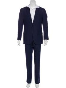 Ermenegildo Zegna Stripe Wool Two-Piece Suit Set