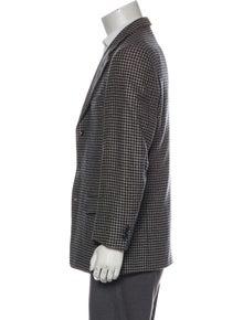 Ermenegildo Zegna Wool Plaid Print Blazer