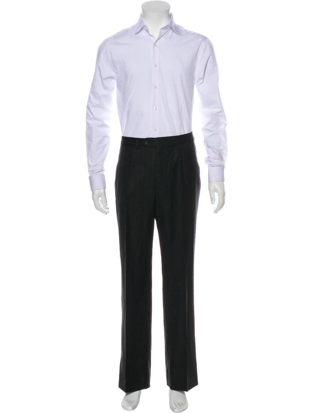Ermenegildo Zegna Silk Striped Two-Piece Suit Bla… - image 4