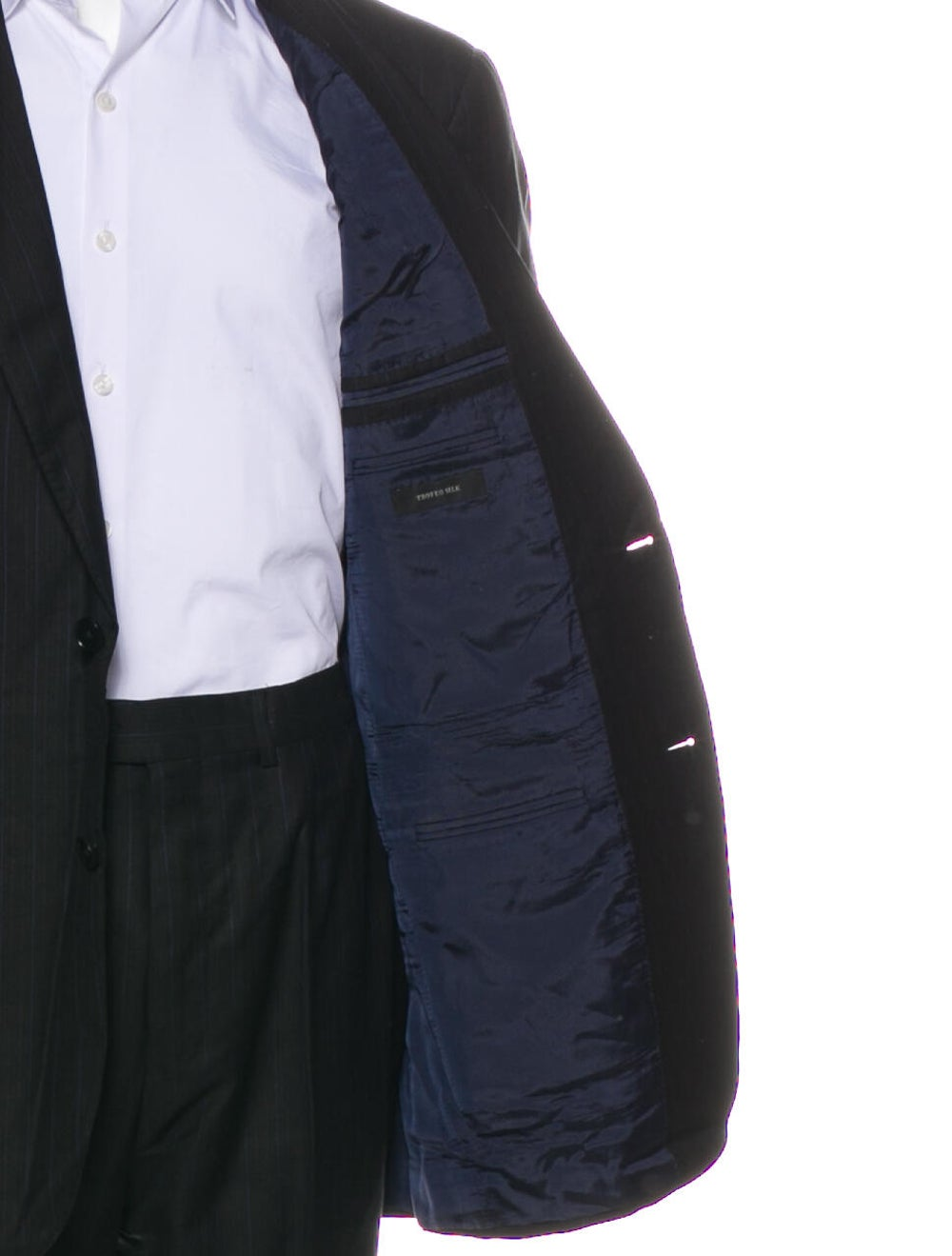 Ermenegildo Zegna Silk Striped Two-Piece Suit Bla… - image 5