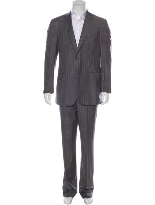 Ermenegildo Zegna Stripe Wool Two-Piece Suit Set g