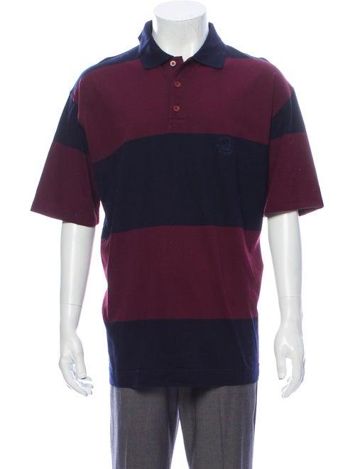 Ermenegildo Zegna Striped V-Neck Polo Shirt
