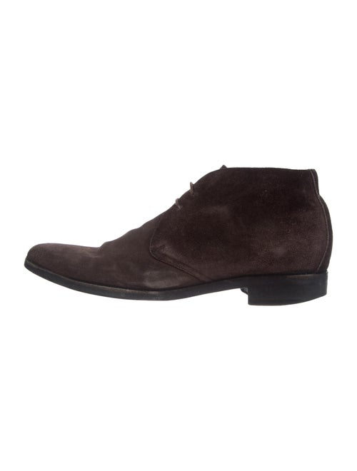 Ermenegildo Zegna Suede Lace-Up Boots Brown