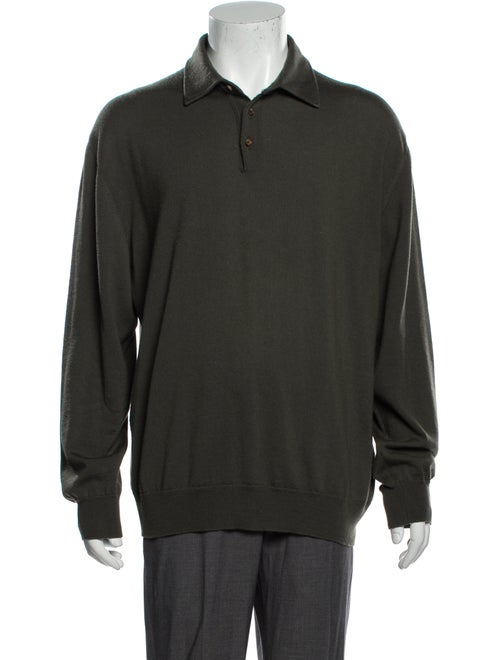 Ermenegildo Zegna Wool Knit Polo Wool Polo Sweater