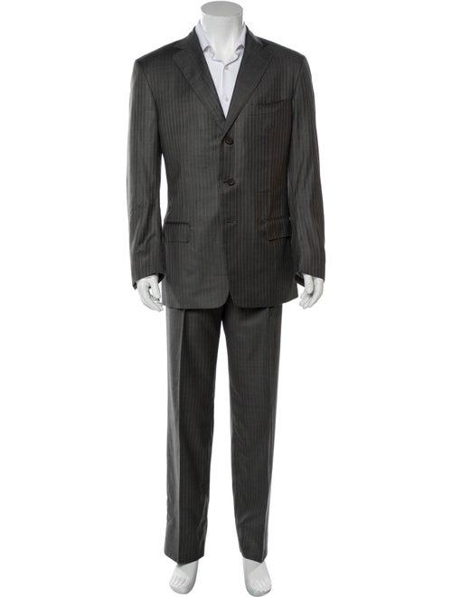 Ermenegildo Zegna Pinstripe Two-Piece Suit navy - image 1