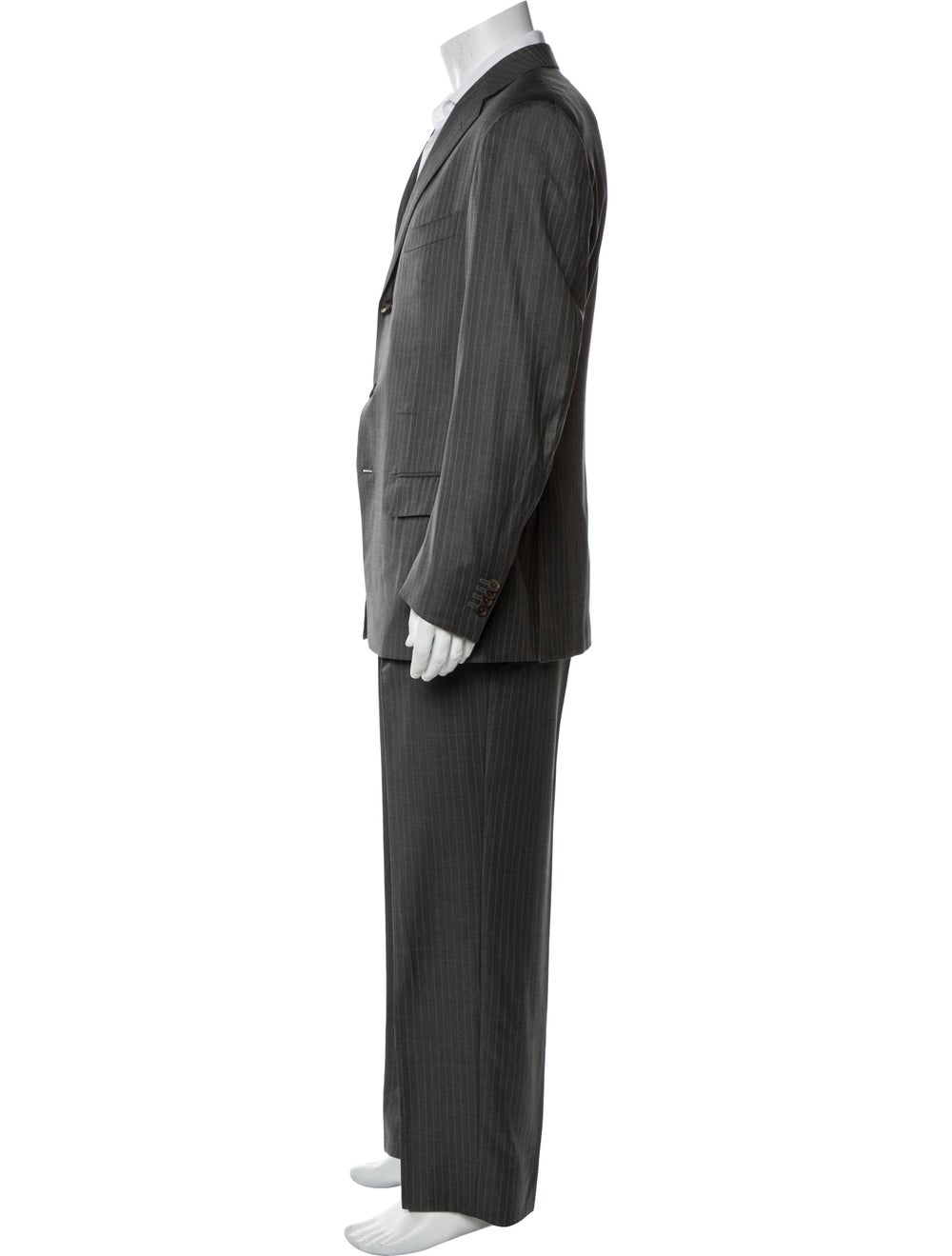 Ermenegildo Zegna Pinstripe Two-Piece Suit navy - image 2