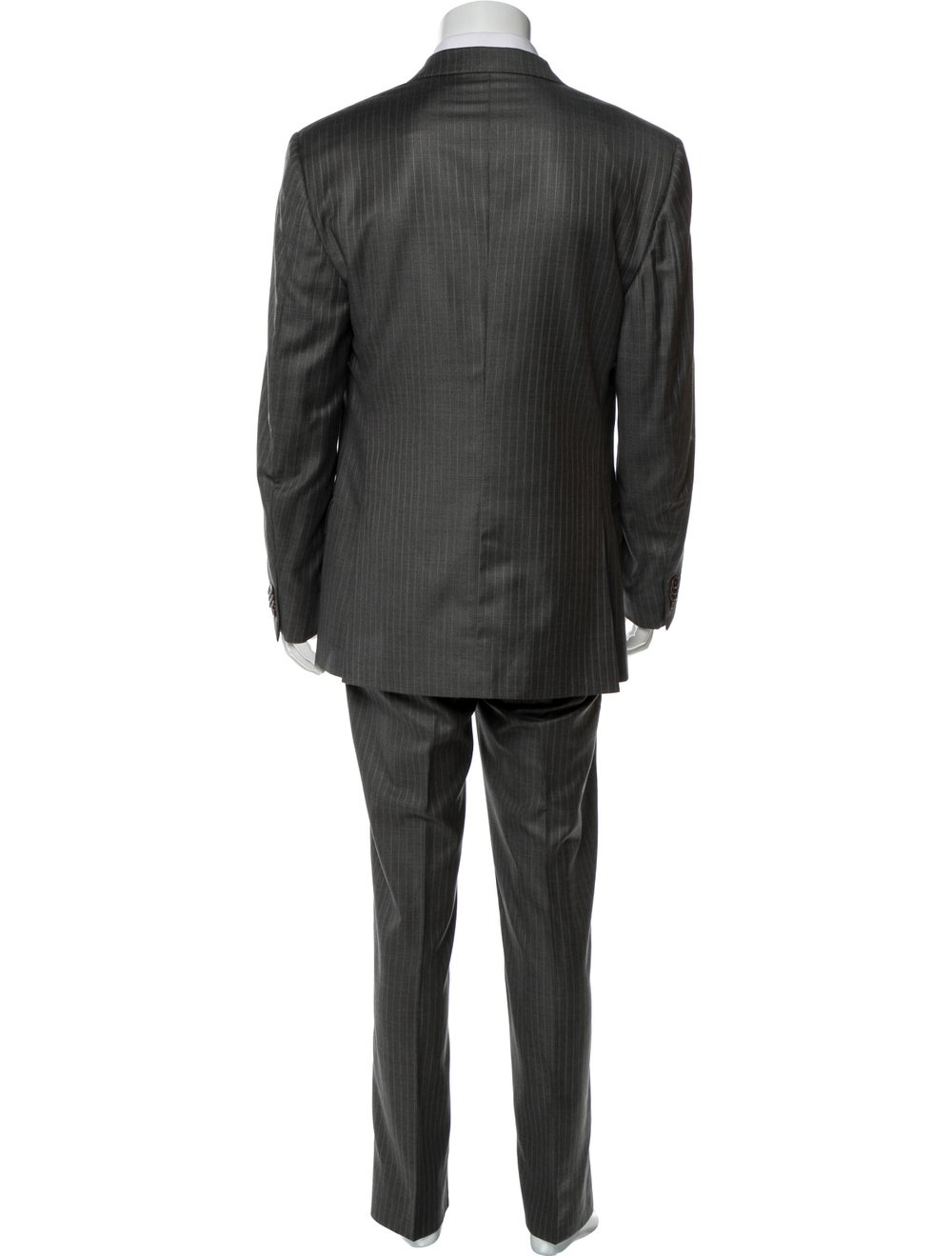 Ermenegildo Zegna Pinstripe Two-Piece Suit navy - image 3