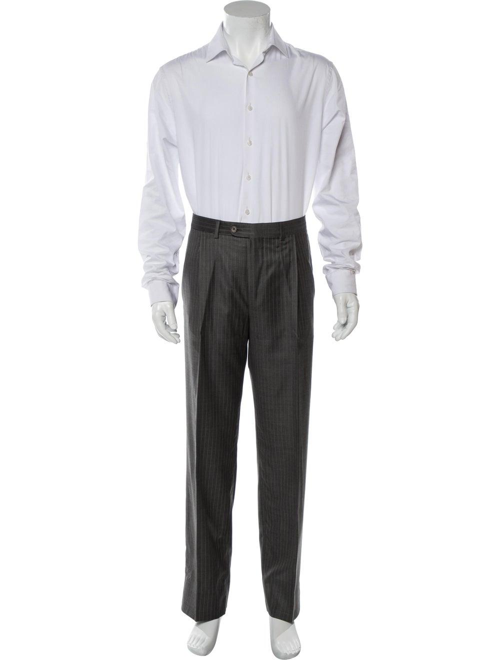 Ermenegildo Zegna Pinstripe Two-Piece Suit navy - image 4