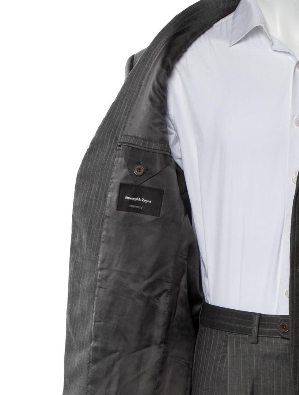 Ermenegildo Zegna Pinstripe Two-Piece Suit navy - image 5