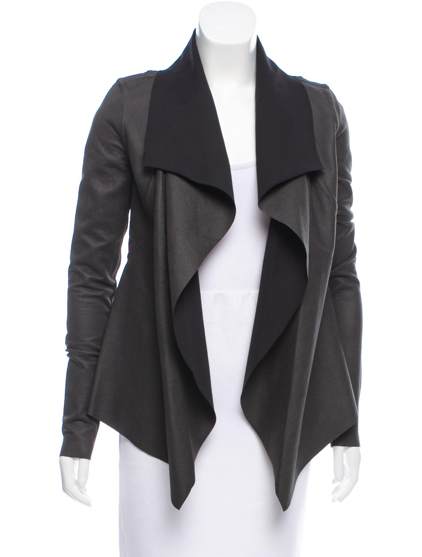 silkspandex demeulemeester ann size drapes spring jacket silk i tie draped spandex dress black wrap l