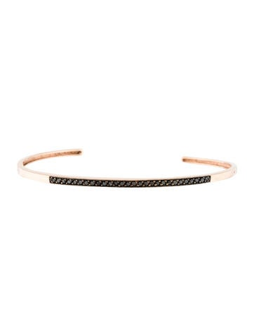 zo235 chicco black diamond pav233 cuff bracelet bracelets