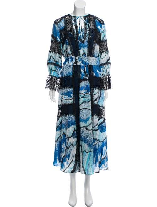 Zuhair Murad Printed Maxi Dress Blue