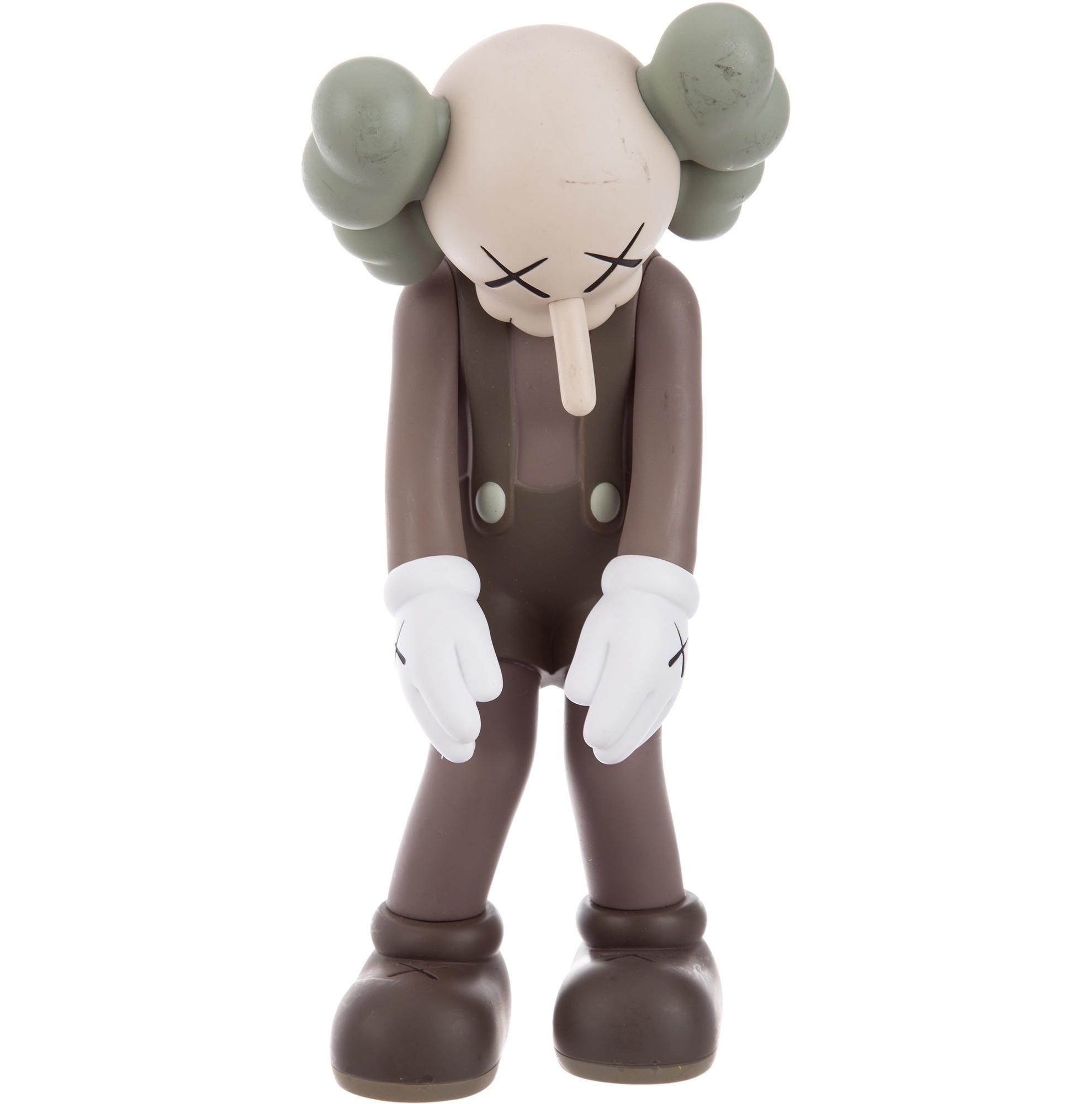 orig KAWS Medicom Toy Small Lie BROWN Limited Edition Companion Vinyl 2017