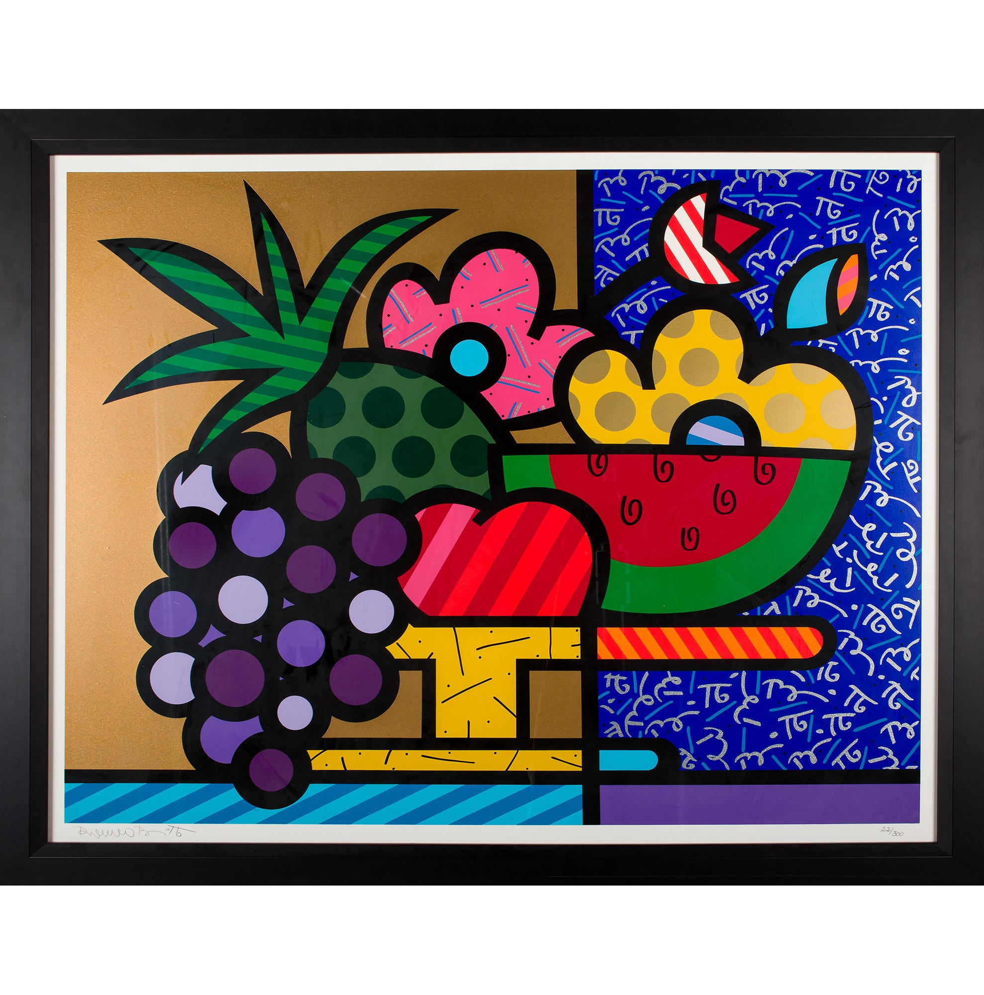 Home Decor Living Room Images Romero Britto Bowl Of Fruit Pts21598 The Realreal