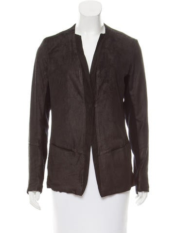 Transit Textured Leather Blazer w/ Tags None